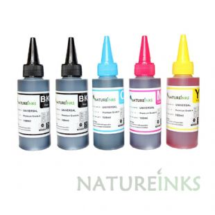 5 Natureinks Premium Dye Based Bottles Set ( 500ml )